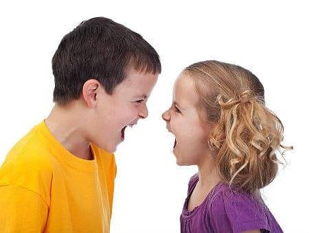 Picture of boy and girl arguing - illustrating the incivility of presidential election