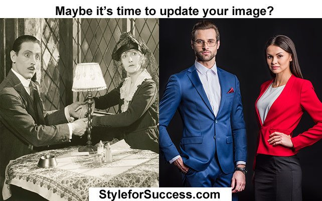 Style for Success - Before and after photo of a personal brand and image update with tips and advice