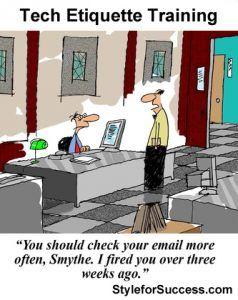 Email etiquette cartoon