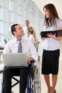 Business man in wheelchair
