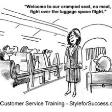 Airline Positive Customer Service Cartoon