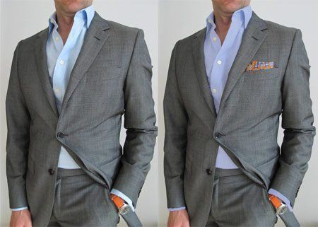 Tips and advice to dress up a suit without a tie.