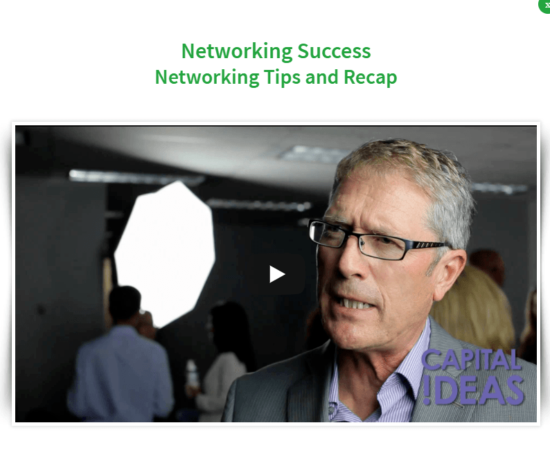 Capital Ideas Networking Tips And Recap